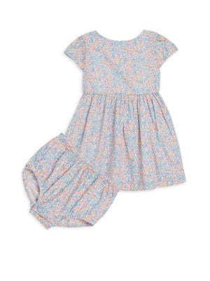Baby Girl's Two-Piece Fit-&-Flare Dress & Bloomers Set
