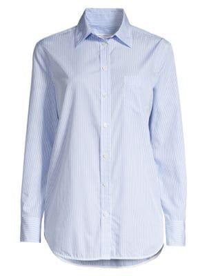 Sale alerts for  Kenton Pinstripe Cotton Shirt - Covvet