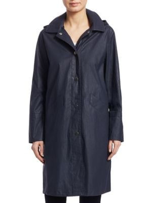 JANE POST Hooded Waxed Jacket