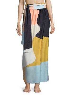 Cora Colorblock Wrap Skirt