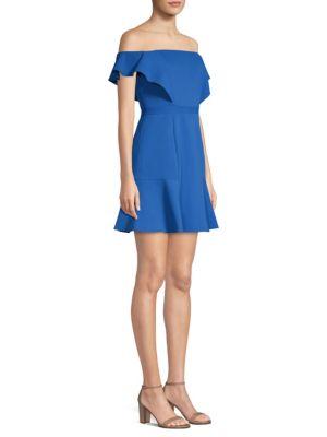 Off-The-Shoulder Fit-&-Flare Dress