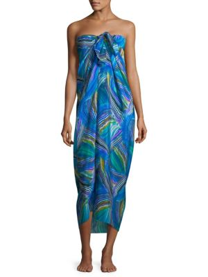 Pareo Tourmaline Silk Cover-Up