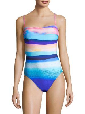 GOTTEX SWIM Seascape One-Piece Tank Swimsuit