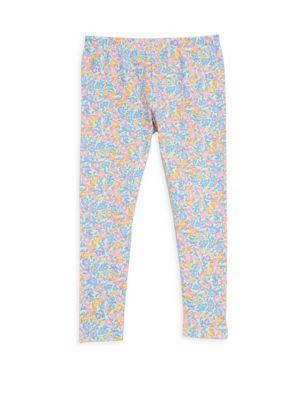 Toddler's, Little Girl's & Girl's Floral-Print Jersey Leggings