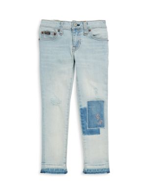 Toddler's, Little Girl's & Girl's Distressed Patched Jeans