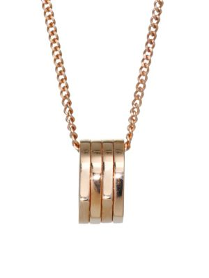 REPOSSI Antifer Four-Row 18K Rose Gold Pendant Charm Necklace