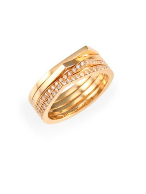 REPOSSI Antifer Diamond & 18K Rose Gold Four-Row Ring