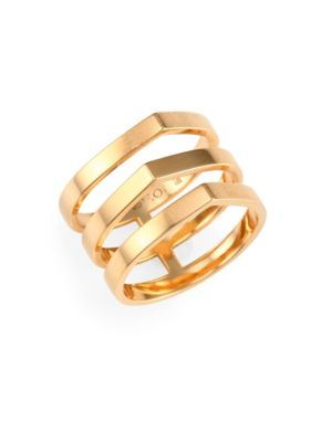 REPOSSI Antifer Off Width 18K Rose Gold Ring