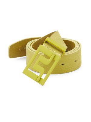J. LINDEBERG Slater Brushed Leather Belt