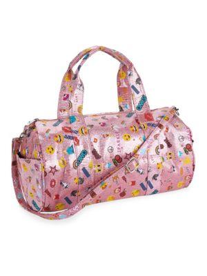 Girl's Glitter Emoji Duffle Bag