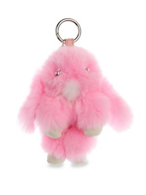 Kid's Bunny Fox Fur Keychain