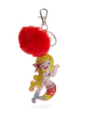 Mermaid Fur Crystal Keychain