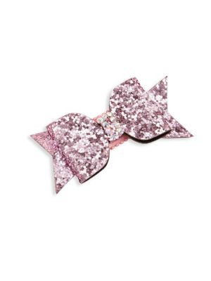 Girl's Crystal Glitter Bow Clip