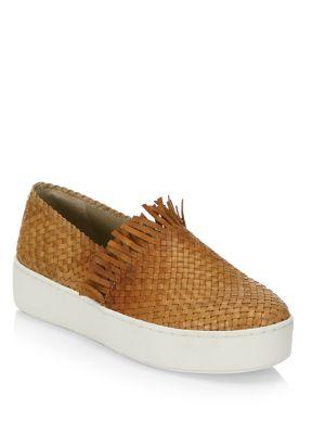 Basketweave Leather Sneakers