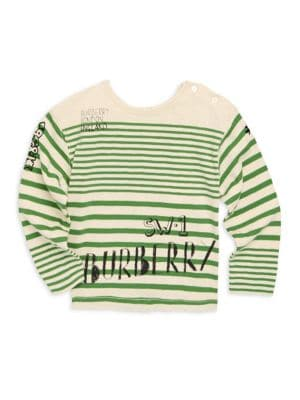 Baby & Toddler's Stripe Cotton Logo Tee