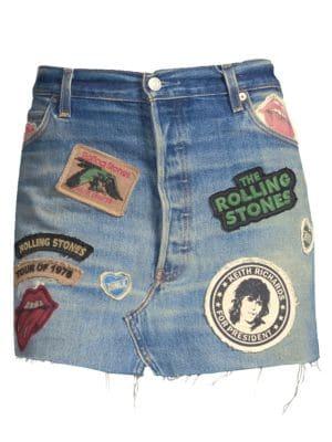 Rolling Stones Denim Mini Skirt