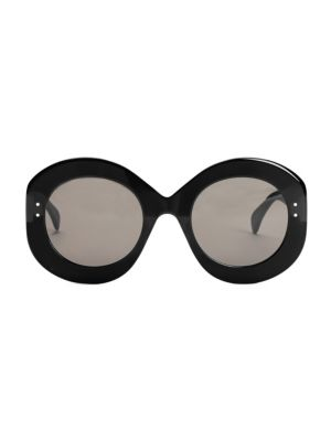 Enhanced Femininity Black & Gray Round Sunglasses