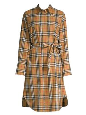 BURBERRY | Isotto Long Shirt Dress | Goxip