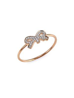 Tiny Diamond Bow Ring