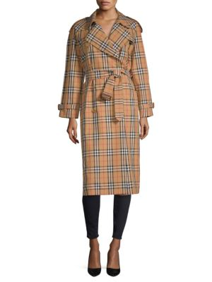 THE EASTHEATH CHECKED COTTON-GABARDINE TRENCH COAT
