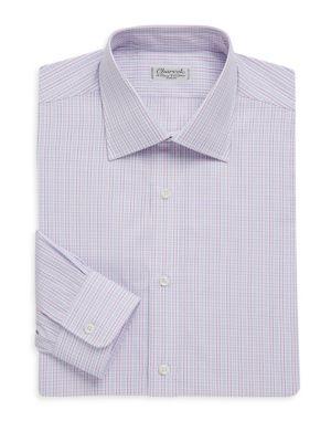 Regular-Fit Plaid Cotton Dress Shirt