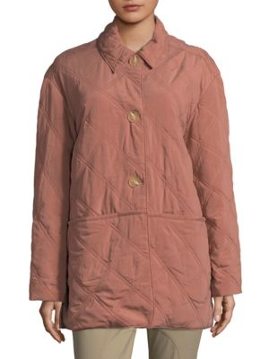 QUILTED PADDOCK CUPRO BLEND JACKET