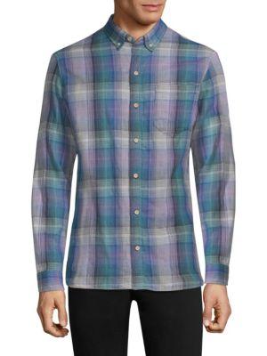 SURFSIDESUPPLY Regular-Fit Oswald Plaid Gauze Shirt