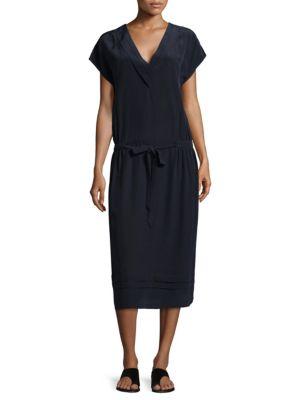 BECKEN Oversized Pleated SIlk Dress