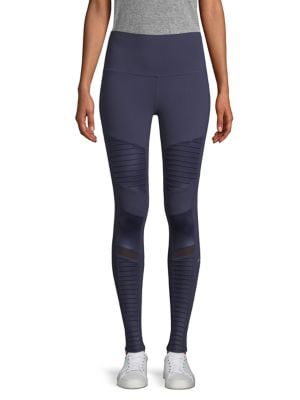 High Waist Moto Leggings by Alo Yoga
