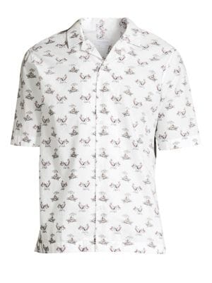 Short-Sleeve Casual Button-Down Shirt