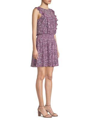 Dalila Silk Popover Dress