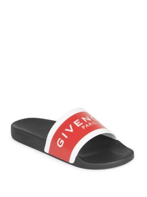 6bf3fcd40d7 GIVENCHY BLACK   RED LOGO POOL SLIDES