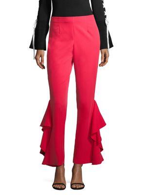 Side Ruffle Pants