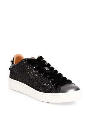 Glitter Leather Sneakers