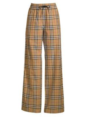 Whynham Check Wide-Leg Pants