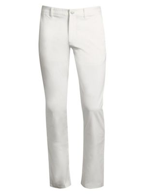 White Stretch Washed Chinos