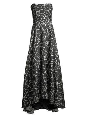 Off-The-Shoulder Hi-Lo Gown