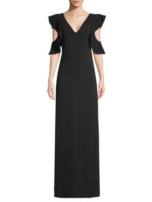 LAUNDRY BY SHELLI SEGAL Ruffle-Sleeve Maxi Dress