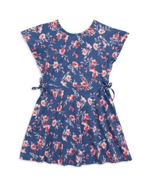 Girl's Floral-Print Cotton Dress