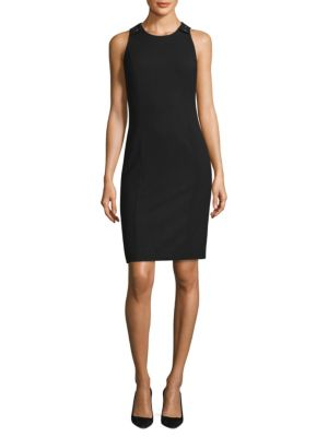Textured Stretch Sleeveless Dress