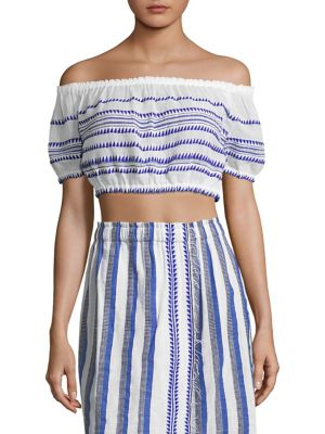 Lulu Stripe Off-The-Shoulder Top