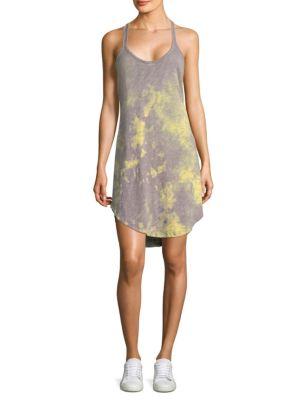 Tie-Dye Trapeze Tank Dress