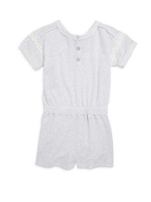 Toddler's, Little Girl's & Girl's Cotton Lace Romper