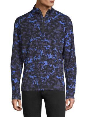 Tate Camouflage Half-Zip Sweater