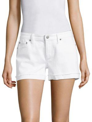 Selvedge Raw Cuffed Denim Shorts