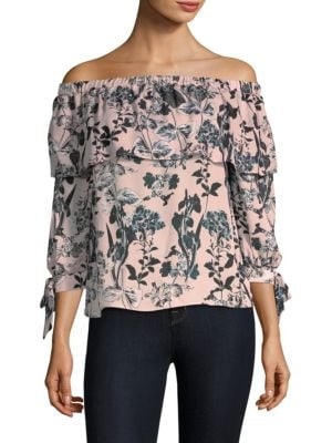 Mandy Off-The-Shoulder Silk Top