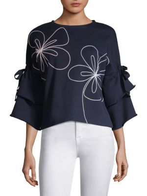 Omara Embroidered Pullover