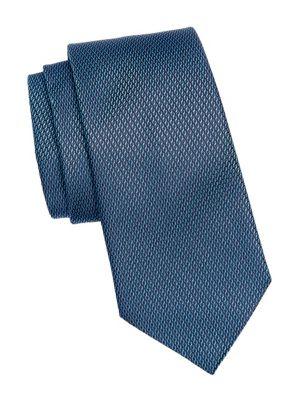 Cable Jacquard Silk Tie