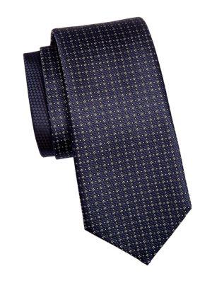 Silk Diamond Pattern Tie