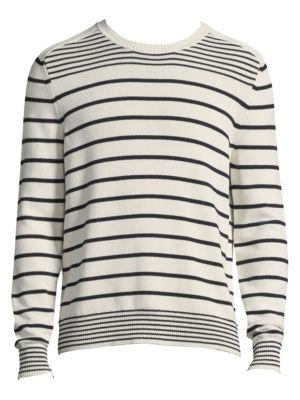 Stripe Long-Sleeve Cotton Sweater